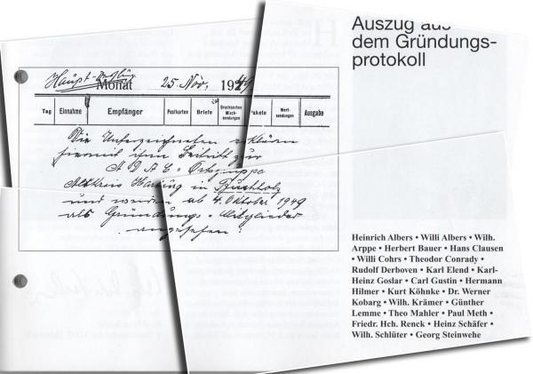Gründungsprotokoll AC Buchholzer Heidering