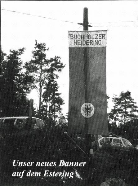 Das AC Buchholzer Heidering Banner auf dem Estering
